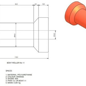 boat trailer roller 11 300x300 - Roller 11 - 64x118