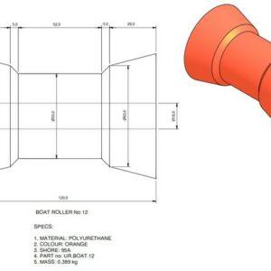 boat trailer roller 12 300x300 - Roller 12 - 78x120