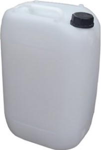 25L Fuel Tank Upright Clear