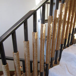 nautical rope bannister interior design
