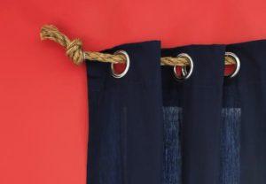 nautical rope curtain rods interior design