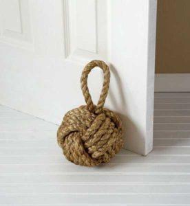 nautical rope door stopper interior design