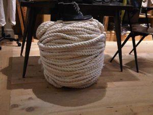 nautical rope foot stool interior design