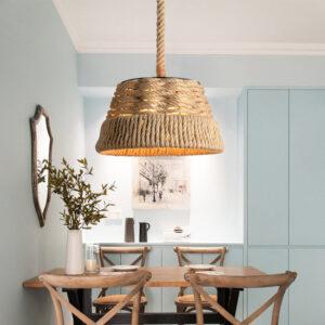 nautical rope lampshade interior design