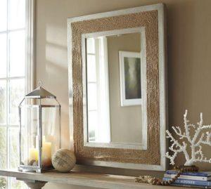 nautical rope mirror frame interior design