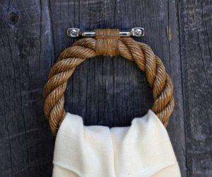 nautical rope towel rail interior design