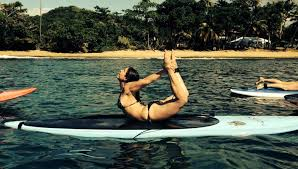 stand up paddle sup yoga pose