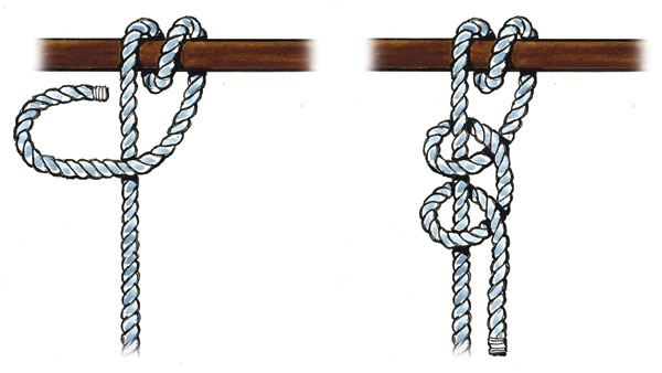 half hitches nautical rope knots