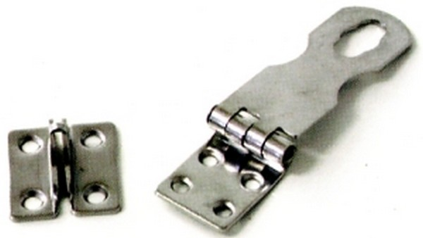 4928 stainless hasp - HASP & STAPLE (L/Duty) S/S non-twist