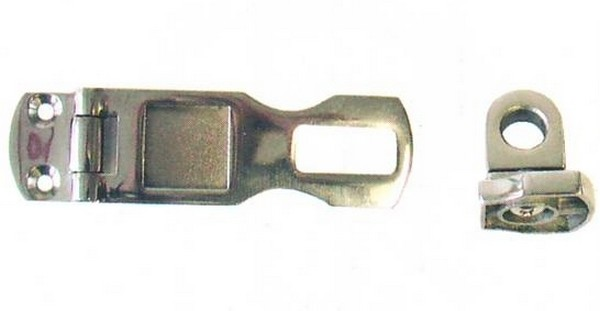 4935 stainless hasp and staple - HASP & STAPLE (H/Duty) 3inch S/S (CM)