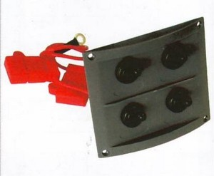 b5 027 4 waterproof switch panel 300x247 - Switch Panel AAA 4 switch 8x9 in BLK