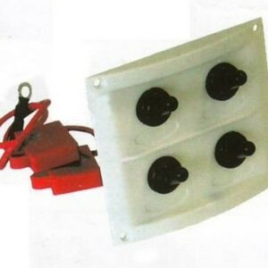 b5 028 4 marine toggle switch panel 300x300 - Switch Panel AAA 4 switch 8x9 in WHT