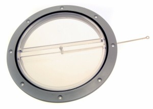 bg141f clear hatch lid 300x215 - 8in CLEAR HATCH COVER WITH BLACK SEALING