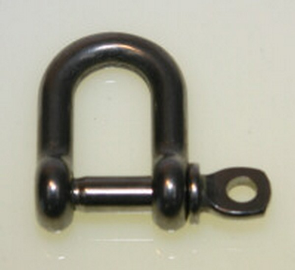 bg42c2 dee shackle - S/STEEL 5mm D SHACKLE