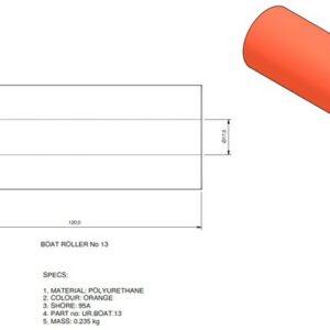 boat trailer roller 13 300x300 - Roller 13 - 50x120