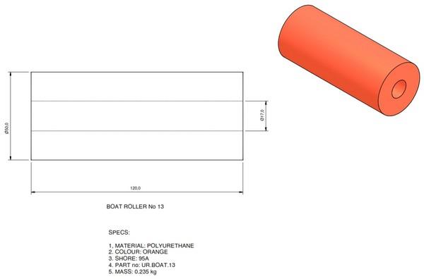 boat trailer roller 13 - Roller 14 - 60x120
