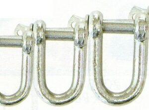 dee shackle galvanised 300x223 - DEE SHACKLE - 16mm - GALV