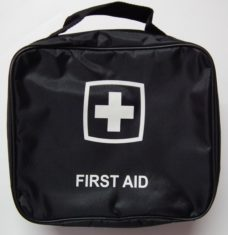 f8 002 closed first aid kit 228x235 - First Aid Kit 24PC In Black Nylon Bag