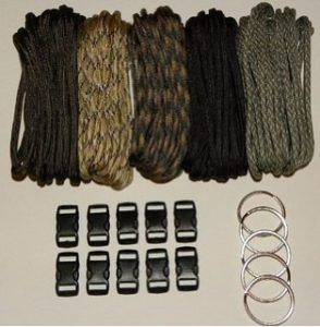 Paracord Rope Survival Bracelet Kit